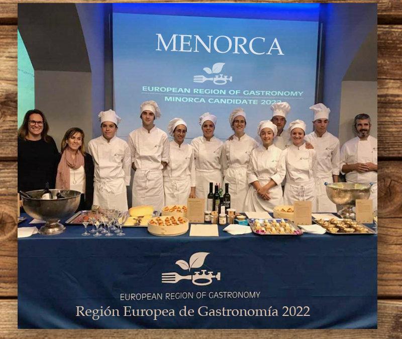 Menorca galardonada como Región Europea de Gastronomía 2022